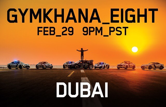 Gymkhana EIGHT: The Ultimate Exotic Playground; Dubai. Yep, Dubai! One of the original hot beds for viral car videos. And a place that's wild about cars in general. Launching on February 29th at 9PM PST!! #GymkhanaEIGHT
