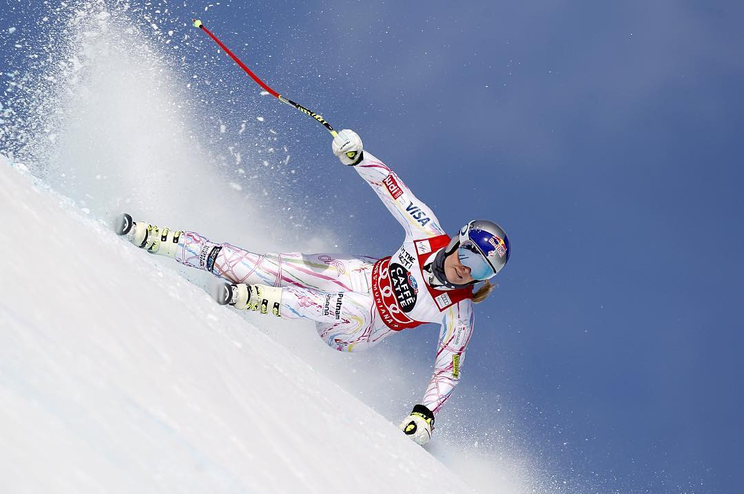 Eight downhill world titles and counting – and another overall title in her sights. @lindseyvonn remains as hungry and dominant as ever. #OakleyPrizm