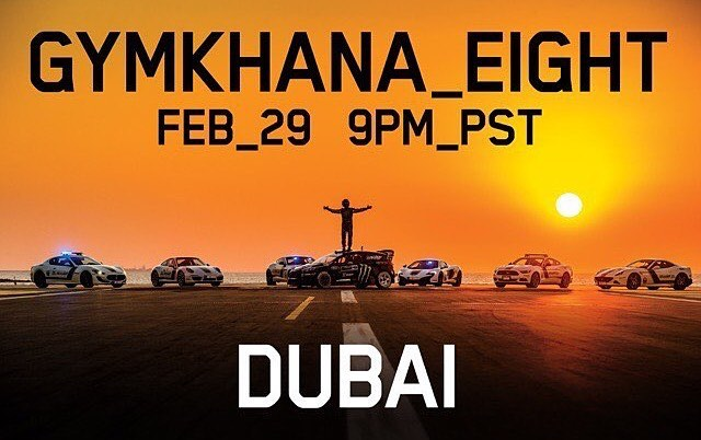It's out of the bag, Gymkhana EIGHT takes place in Dubai aka the Ultimate Exotic Playground. Dubai is known for their insane automotive creations and stunts, so @kblock43 may have went over the top for this one... #GymkhanaEIGHT