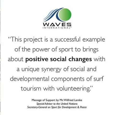 Here at WAVES, we're still so proud of our recent recognition from the UN! ⭐️⭐️⭐️ Let's continue to shape the lives of our future generations through positive social change