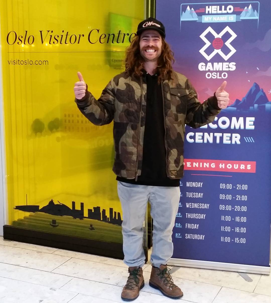 Two-time gold medalist @TravelinDan has arrived at #XGamesOslo!