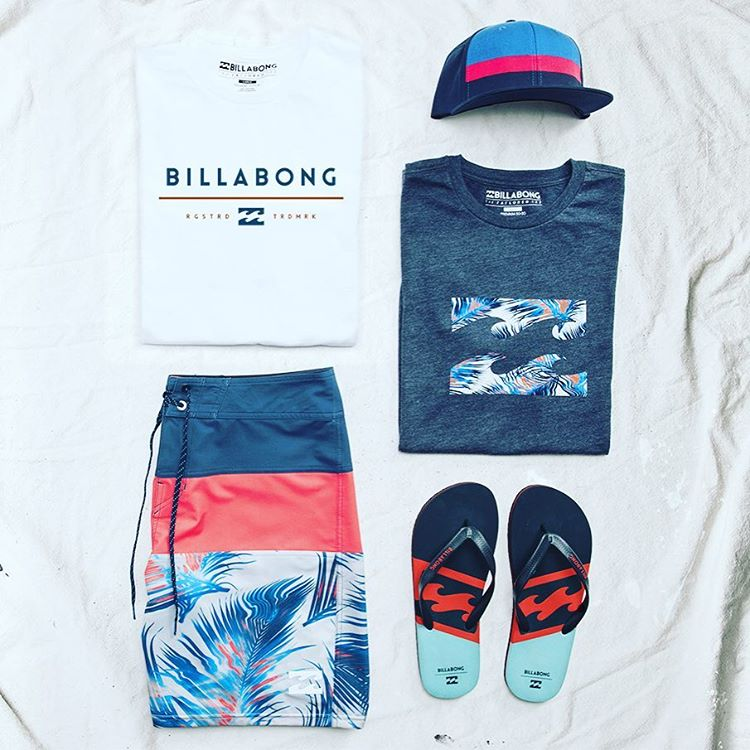 Your new favorite boardshort, the Tribong Platinum X Fronds, and a few other necessities for the warmer temps. Pick your style by visiting Billabong.com or your local shop. #lifesbetterinboardshorts
