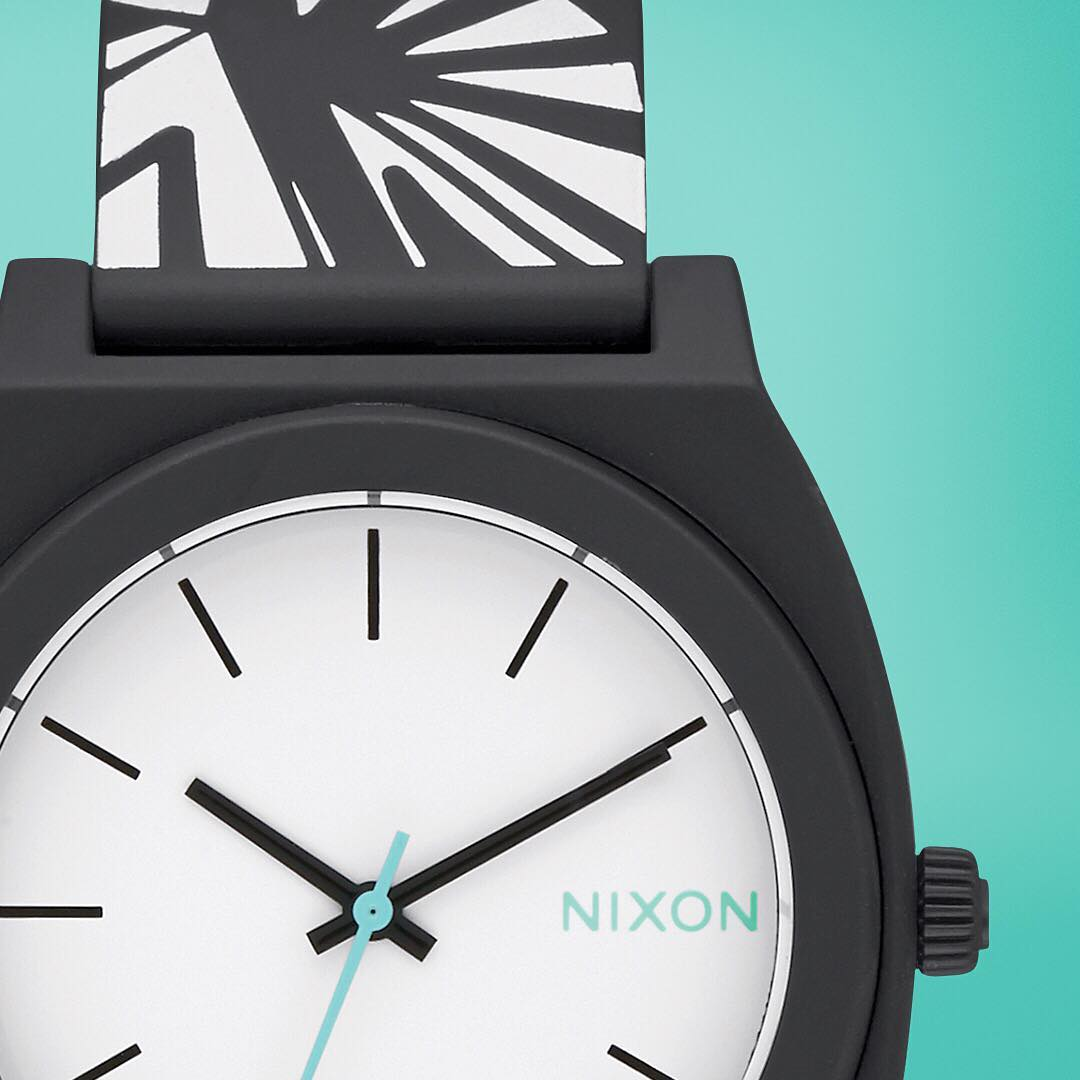 Playful and bold, the Bleach Black collection brings the frenetic energy of illustrative design to the iconic #TimeTeller. #Nixon