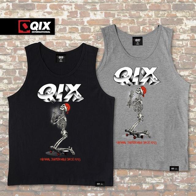 Regatas QIX Rock Art. Disponível nas lojas de todo o Brasil.