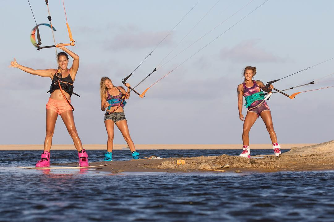 Kites babes. Owner/designer @sensigraves is releasing a kite video with #sensibikinis team rider @malinamle and @kristiinoja tomorrow! Stay tuned for link. We're excited to share with you!