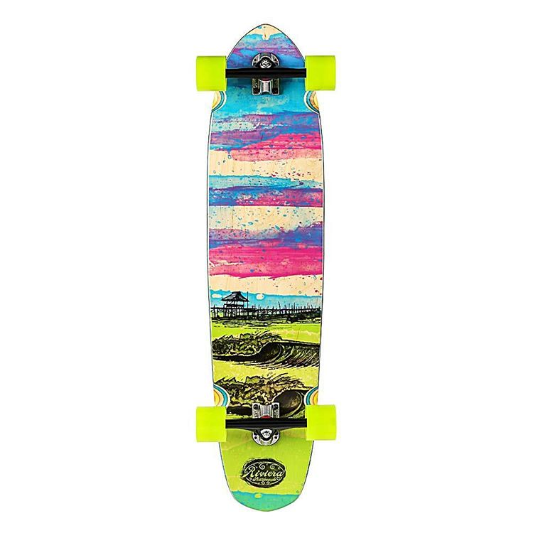 """""""Glass Off"""" Another surf inspired classic longboard made just for your cruising needs. A stable platform with mellow concave and a functional kick-tail that makes skating as fun as it was the day you took your first push. #skateriviera"""