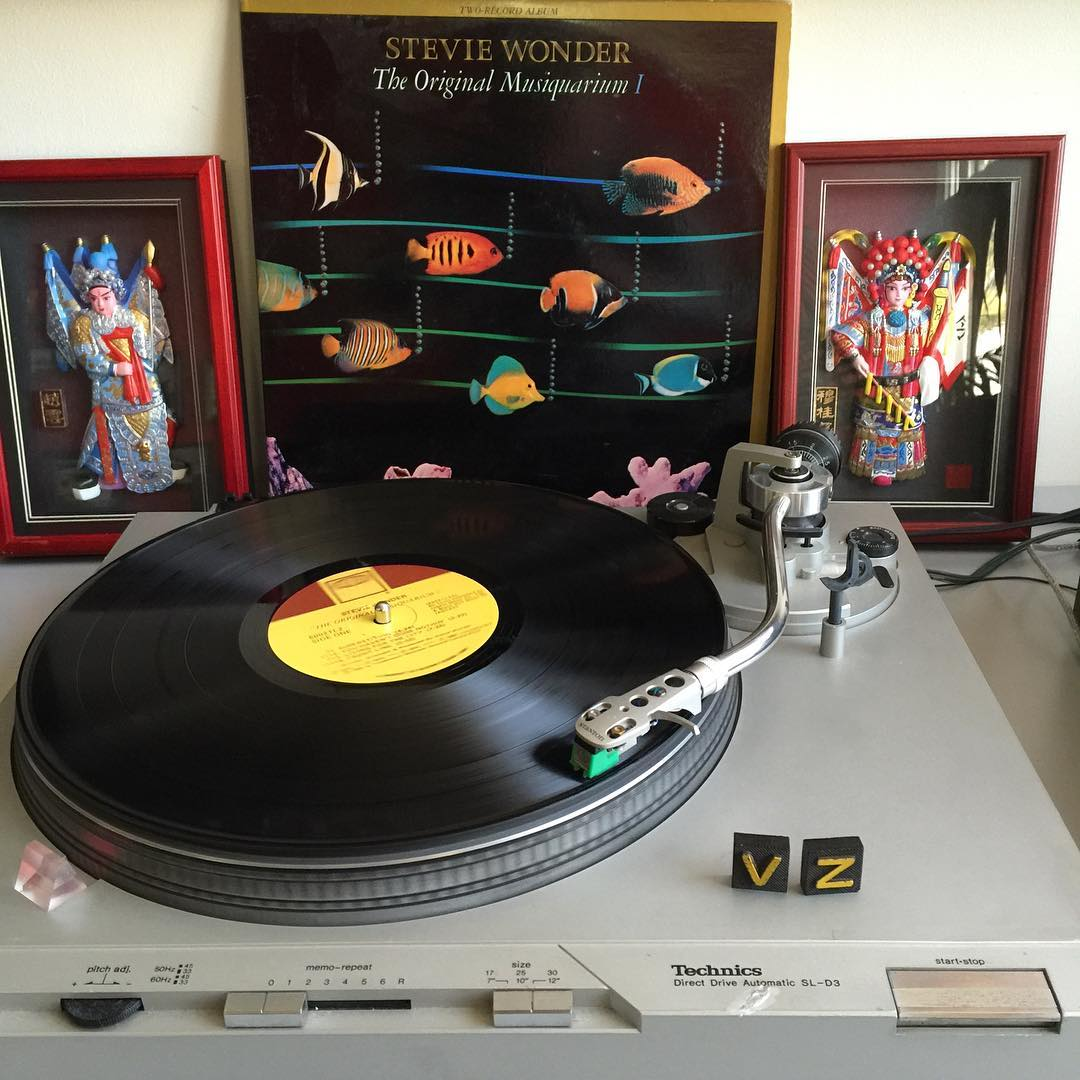 The writings on the wall. This bright a shiny morning for #TurntableTuesday we are getting things moving in the office with a little #StevieWonder! #ListenToVinyl #SupportWildLife