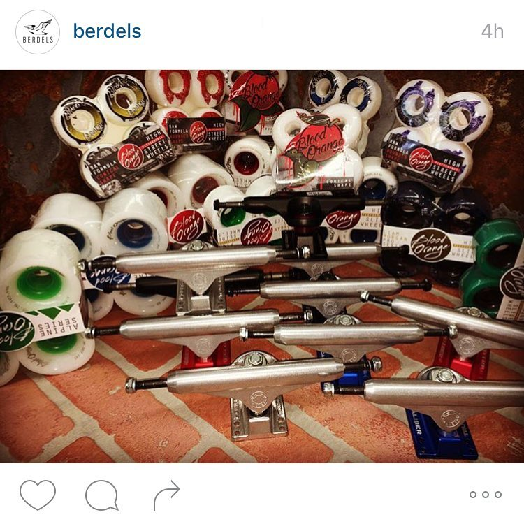 @berdels is a sick local Santa Cruz skateshop that is now fully stocked on all your #calibertrucks and #bloodorangewheels needs! If yo haven't stopped by yet, go check them out on Pacific Ave.