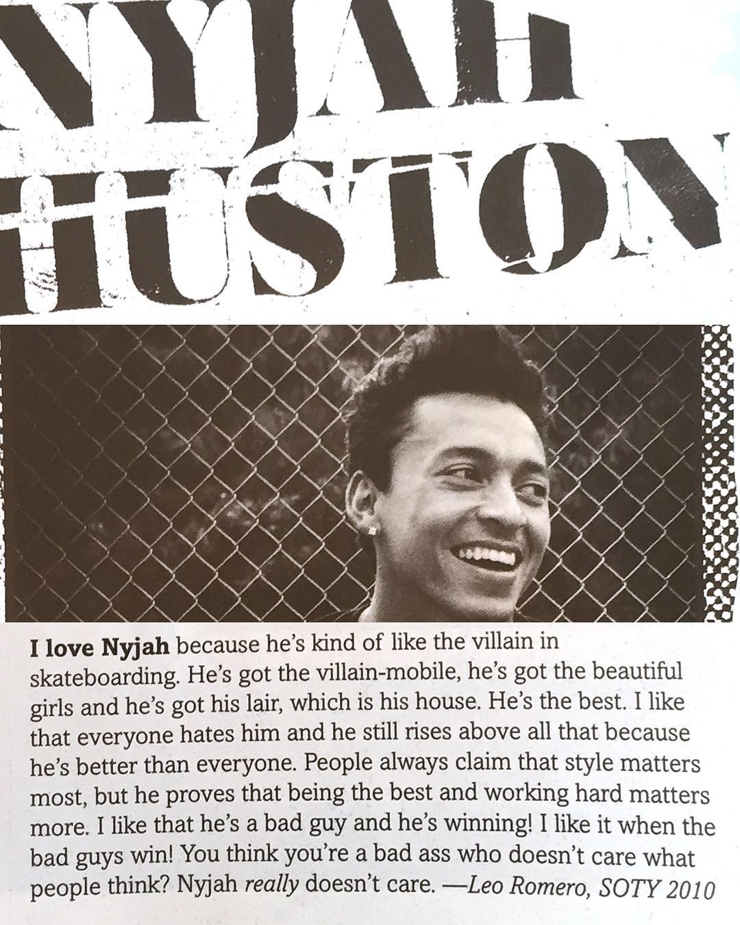#soty2010 @_travesura nails it in the latest @thrashermag >>> and just like bruce wayne, @nyjah is a soulful dude loved by those that know him well, keep killing it Ny >>> #riseup #nyjahhuston
