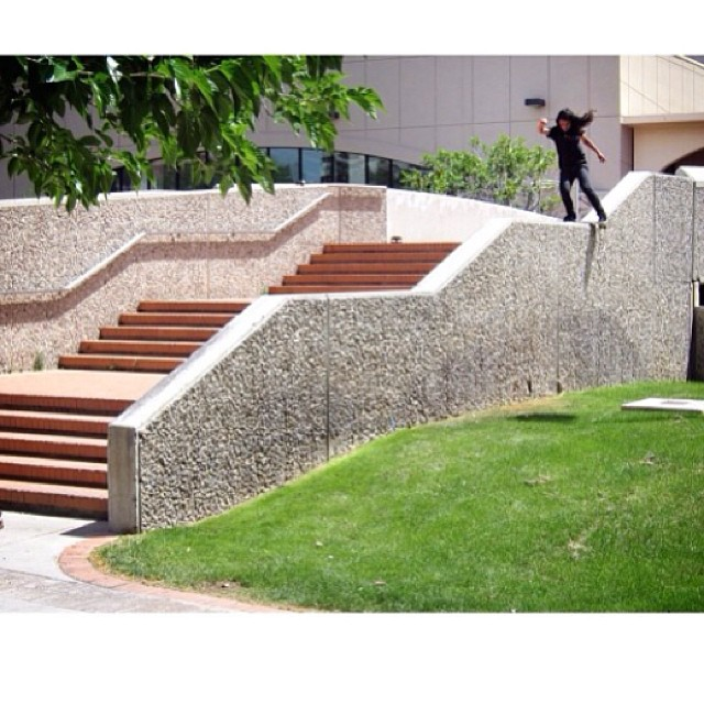 PH: @geoffrowley David Gonzales @davidgonzalez #volcomstoneage #volcom #skate #volcomskate #team