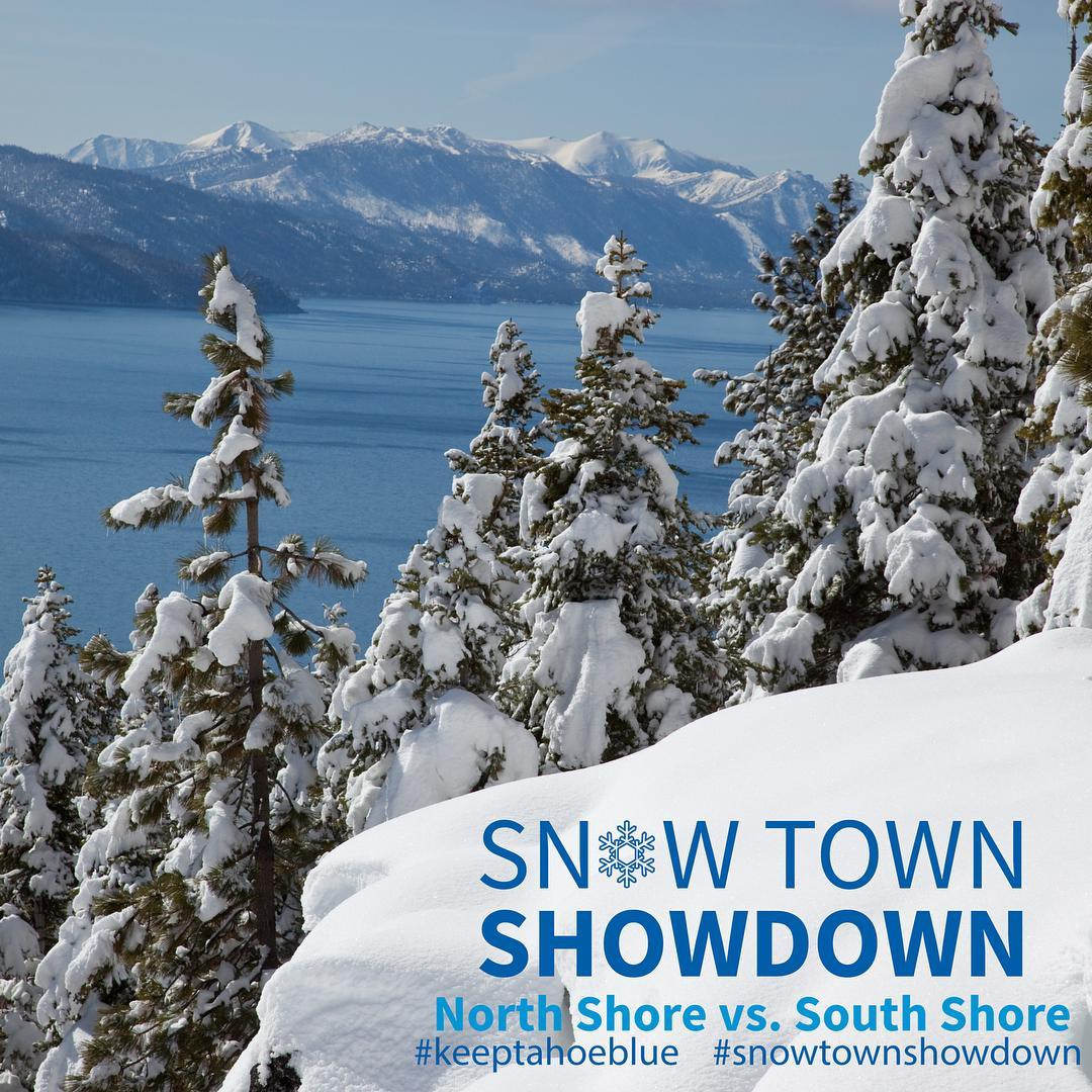 The Snow Town Showdown between North and South shore ends Friday. Cast your vote by donating $1 for a Keep Tahoe Blue sticker at local businesses. Post a photo of your new sticker to Instagram with #keeptahoeblue #snowtownshowdown for a chance to win...