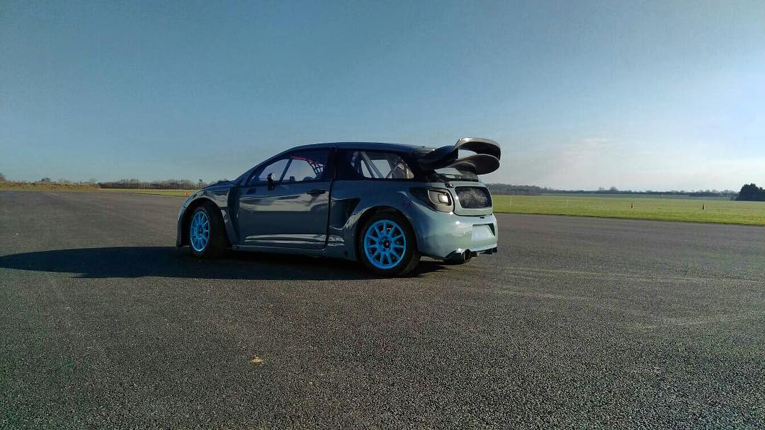 Shakedown of our freshly rebuilt DS3 today ready for @danrooke40 to compete in the 2016 @britishrallycross championship