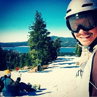Regram from @wreckedsurferdude ready to take on a black diamond with his mentee at @snow_summit @stoked_la