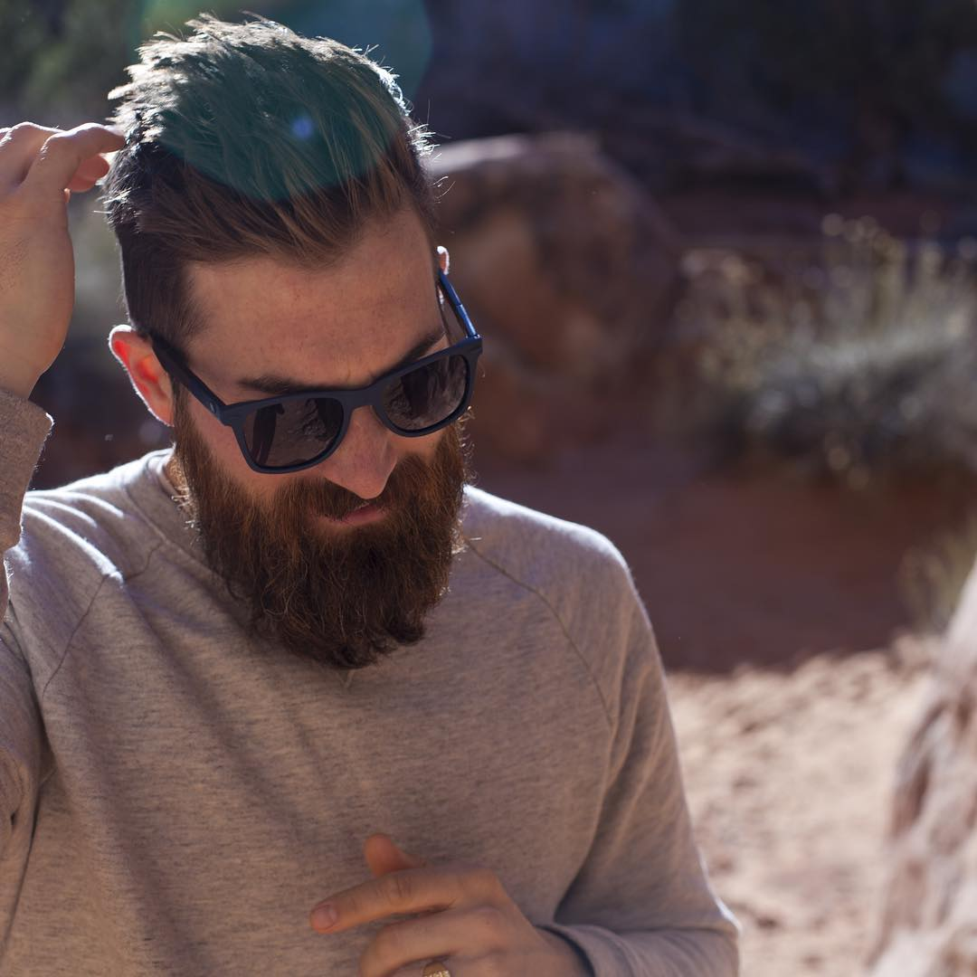 @tkdame exploring @archesnps ft. The Challis  Each pair of this silhouette features wood accents on the temples with the engraving 'Do The Unexpected' on the inside. For more photos & colorways, click the link in our bio #TheAluminumCollection
