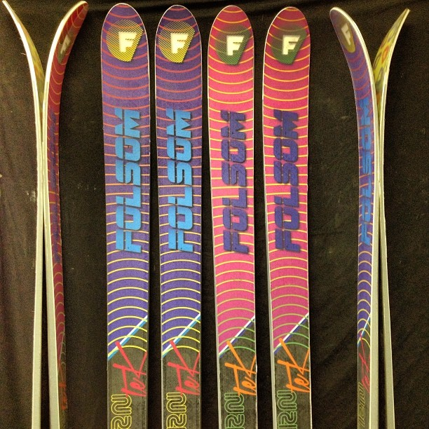 Due to the high demand of the 201 #trntek pro all of our other shapes will be unavailable until further notice. 201cm length only and your choice of pink or purple. #straightskis #straightbutskinny #itsjustskiing
