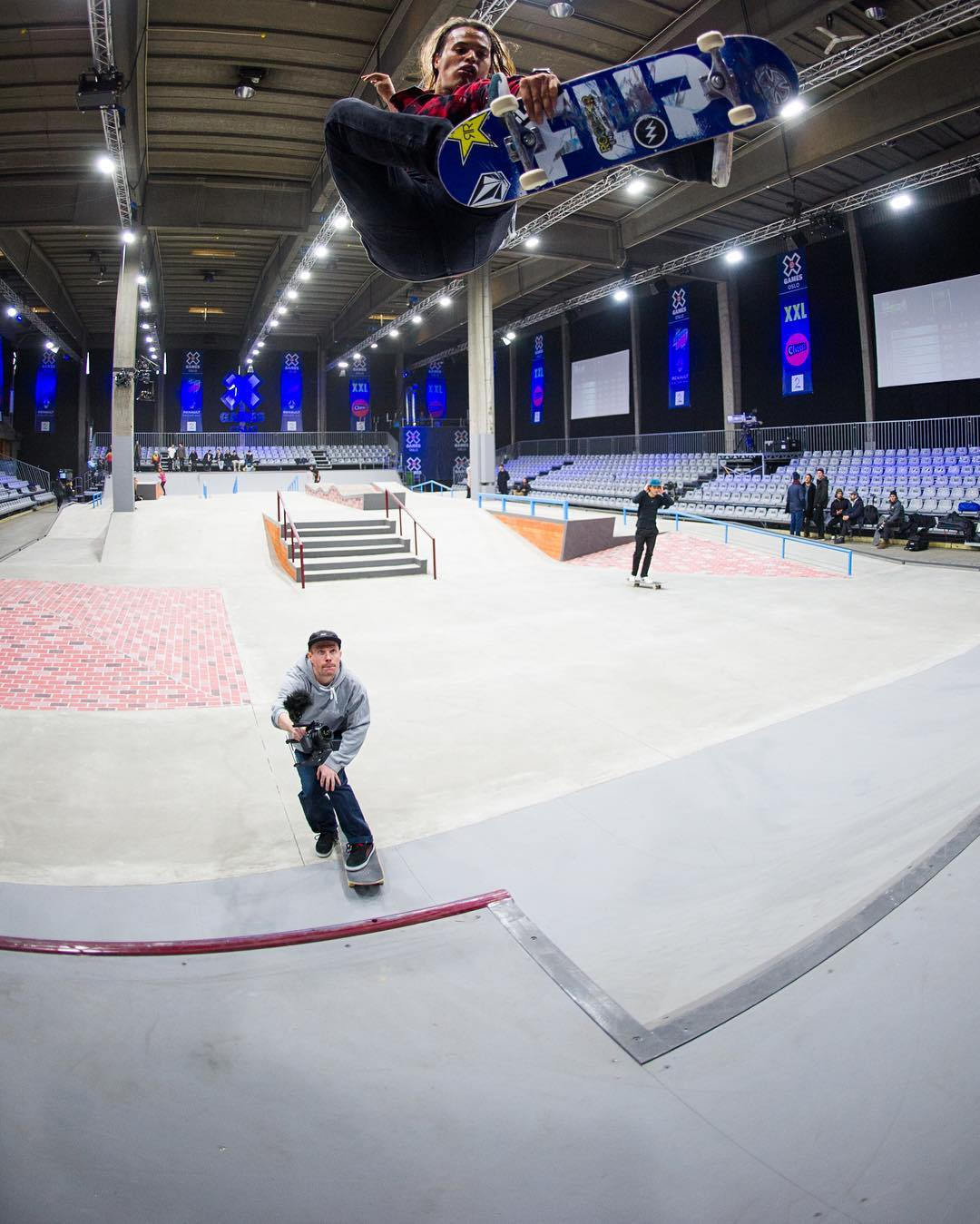 The sickest skaters in the world are warming up at #XGamesOslo!  Men's and Women's Skateboard Street Finals are goin' down tomorrow on ESPN3. (
