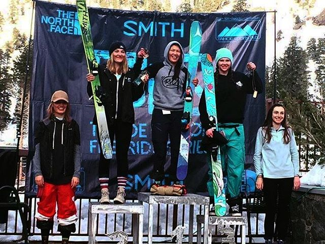 Braaapbraaaaap! Team #coalition is on the map; we're so stoked on our gals!  Athlete @tahoetatum landed herself a spot on the podium in the @tjfsfreeriders #kirkwood comp!  Nice one Tatum; keep crushing!  #sisterhoodofshred #skiing #freeride...