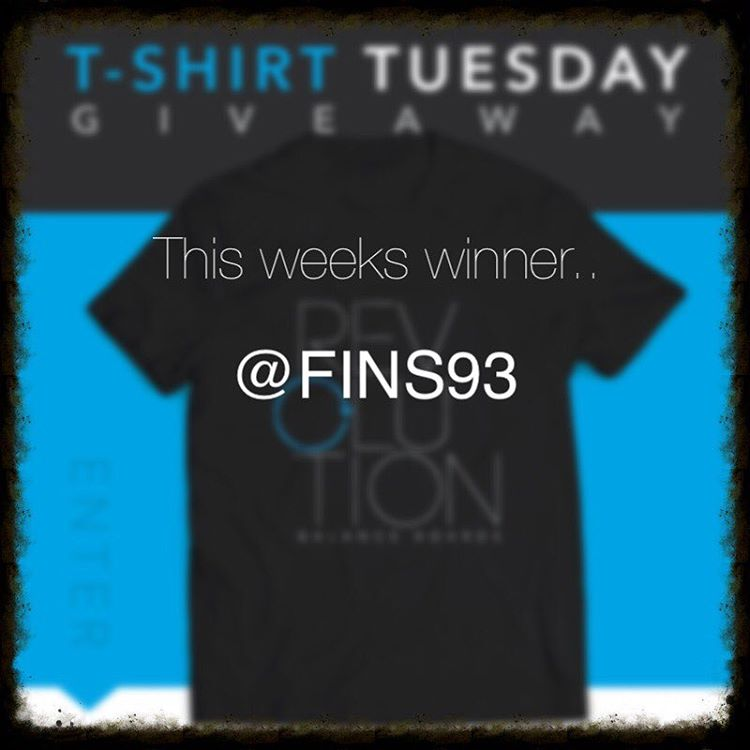 @fins93 congrats! You'll be receiving a Revolution Balance Boards shirt!