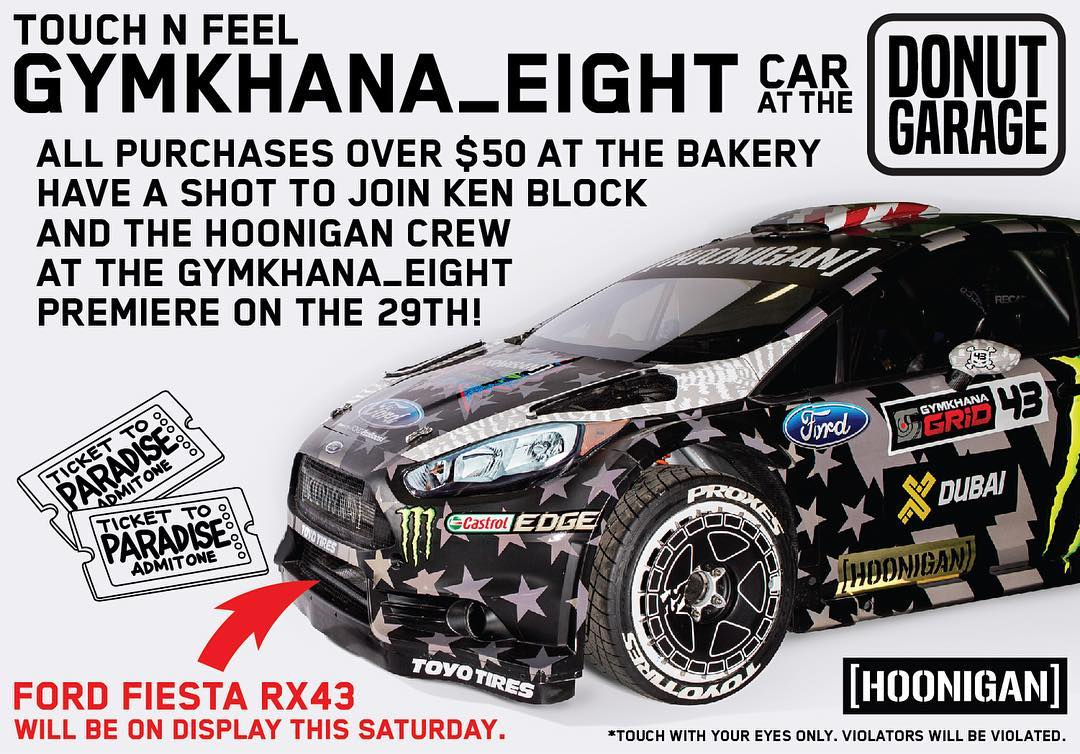 JOIN US AND @kblock43 AT THE WORLD PREMIERE OF GYMKHANA EIGHT! Yeah that's right, we are giving away tickets for you and a guest to join in on the exclusive VIP event. Come down to the #DonutGarage this Saturday to see the car in person and enter to...