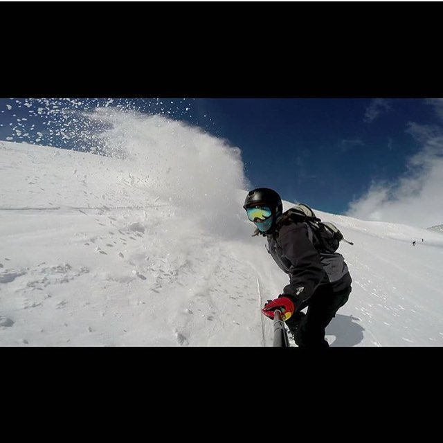 Looks like @mr.steeeeyagi is enjoying the white stuff.  #grenadegloves tag someone you think is rad