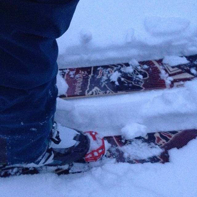 @roxaboots #ride + @4frnt_skis #renegade + #adrenalines = perfect beefy goodness in the backcountry. #sender