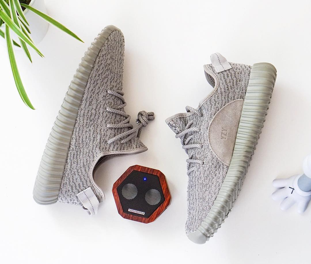 We are working with @sneakernews to curate this giveaway featuring our Rex Speaker and a pair of the Yeezy Boost 350 Moonrock in size 10.  To enter this giveaway follow the instructions below:  1 - Follow @boombotix 2 - Like this image 3 - Tag three...