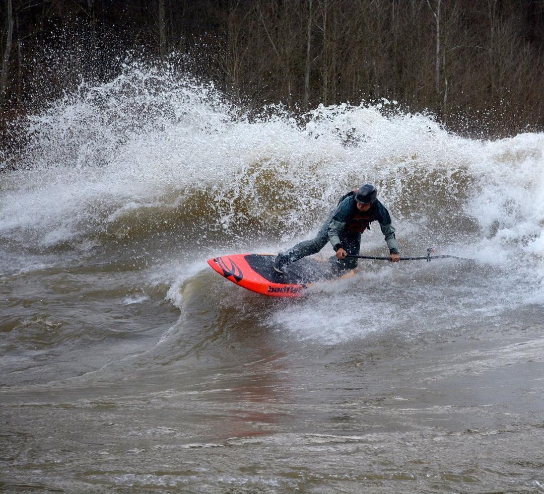 Who needs an explanation?! #shred #tdub #cuzrockshurt #whitewater #sup