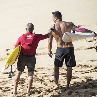regram @surfersvillage Today's the Day! The Eddie is ON! Photo by @joliphotos of @thomasvictorcarroll and @sunnygarcia