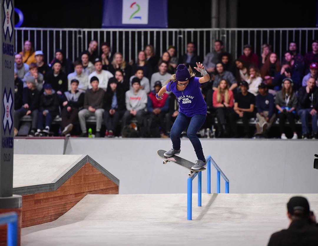The 2016 #XGamesOslo Women's Skateboard Street gold medalist is @PamelaRosaSkt! (
