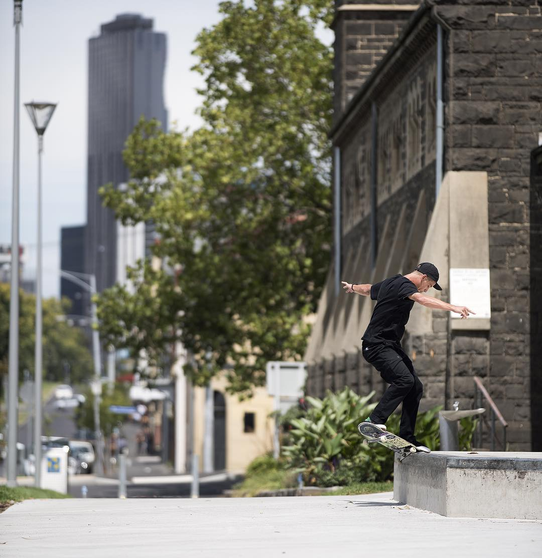 The newest member of the DC Australia squad @alex_lawton getting down on a nollie front crook in Melbourne. Photo: @blabacphoto #AlexLawton #DCShoes