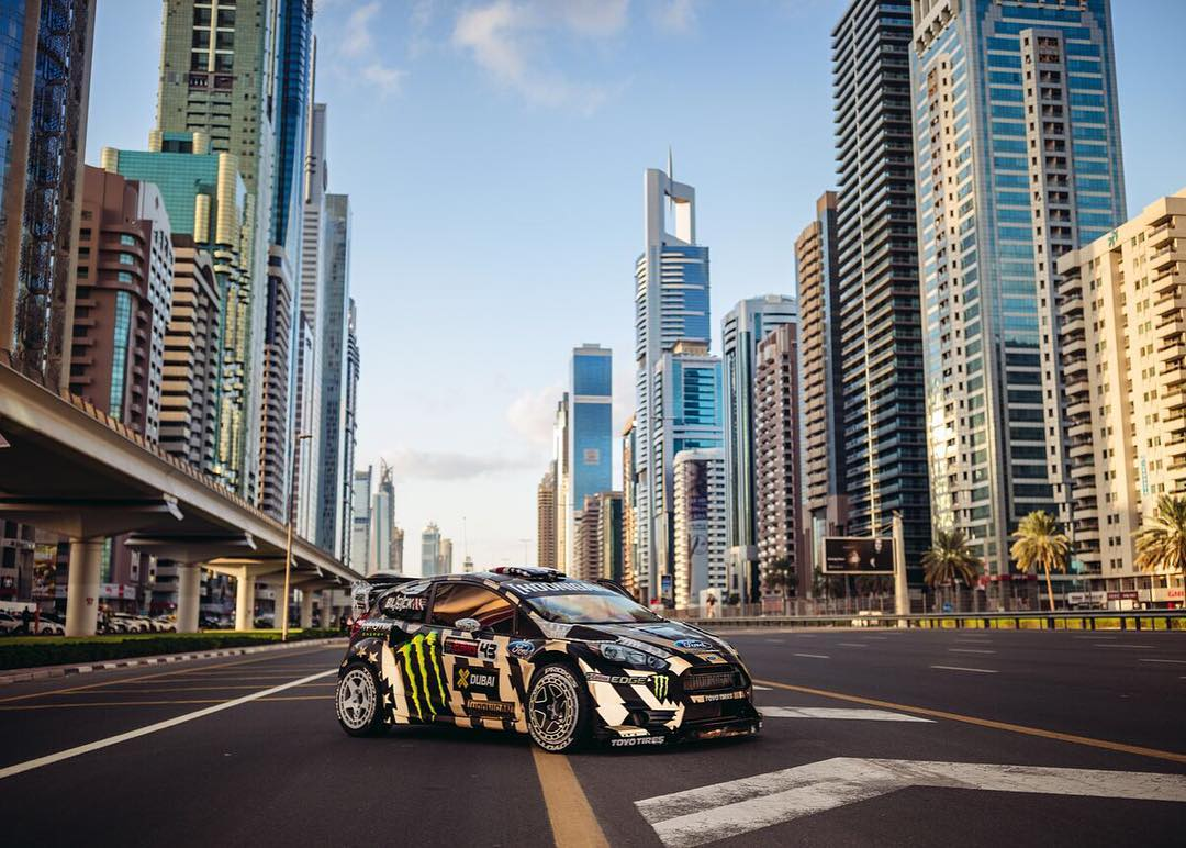 #TBT to last November when we shut down Sheikh Zayed Road in Dubai. Blame @Larry_Chen_Foto for the traffic! (Just kidding, don't blame Larry. Ha.) Gymkhana EIGHT launches on Feb. 29th at 9pm PST! #GymkhanaEIGHT #anythingfortheshot #Dubai  Photo by:...