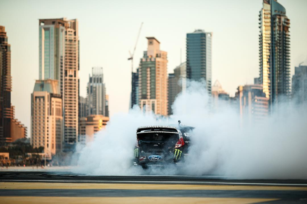The Ultimate Exotic Playground for @kblock43 to kill a whole lot of his brand new @toyotires. Gymkhana EIGHT launches on Feb. 29th. #GymkhanaEIGHT #clearyourschedule ___ Photo by: @larry_chen_foto