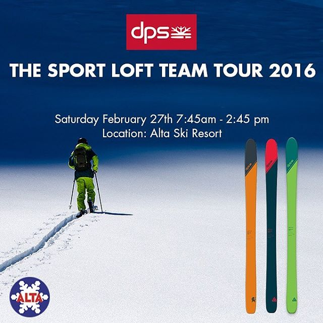 DPS is excited to release the Utah-made Tour1 construction Cassiar 87 into the 2016/17 quiver You can ski it, and other selections from the DPS quiver this Saturday at @altaskiarea  Join both DPS and @thesportloft for a day of demos, clinics, racing,...