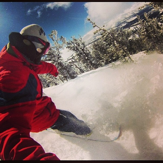 Good one up in #Tahoe today. @heavenlymountain #POV #Snowboard P: @janteurlinckx