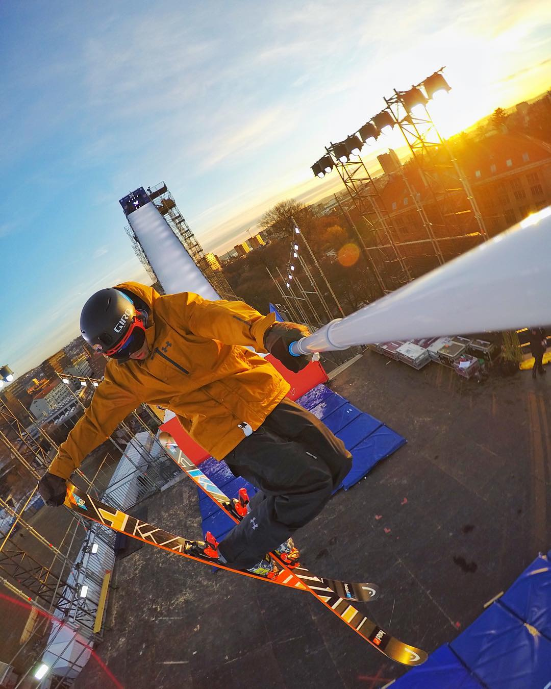 @noah_wallace warming up for Men's Ski Big Air at @xgames Oslo. GoPro HERO4 | GoPole Reach #gopro #gopole #skiing #xgames #xgamesoslo @xgamesosloo