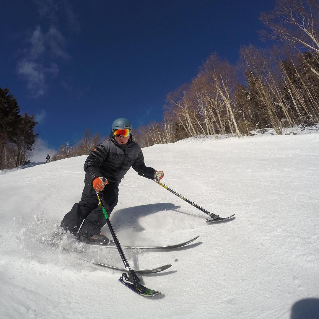 That one turn that brings you back for more, loving the skis from @vtnorthskishop and making them slide on the snow at @sugarbush_vt // Shot on @gopro #gopro #goprosnow by @westonwalker