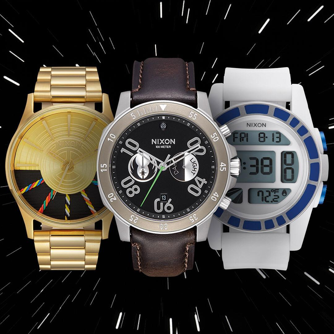 The best watches in the galaxy, welcome the @starwars | #Nixon #LightSide Collection featuring the #C3PO #Sentry, #Jedi #RangerChrono and #R2D2 #Unit. New and now available. #StarWars #Droid #TheForceAwakens