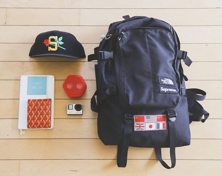 Our kit for the weekend. #Boombotix  #Essentials #Supreme #TheNorthFace #GoPRO #wdywt