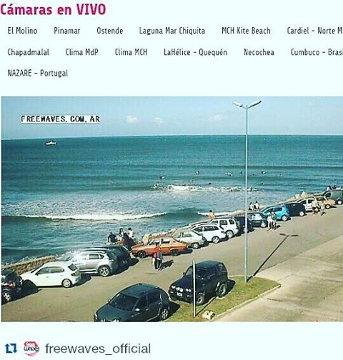 #Repost @freewaves_official with @repostapp ・・・ Playa Grande Mar del Plata desde FreeWaves .