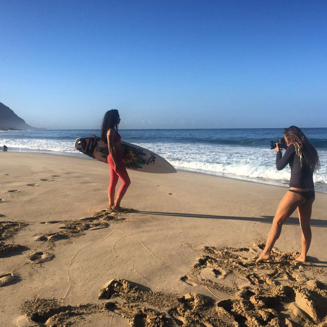 SATURDAY SESSIONS  #bts @_okiino_ #photoshoot of this morning's team surf session.  Big
