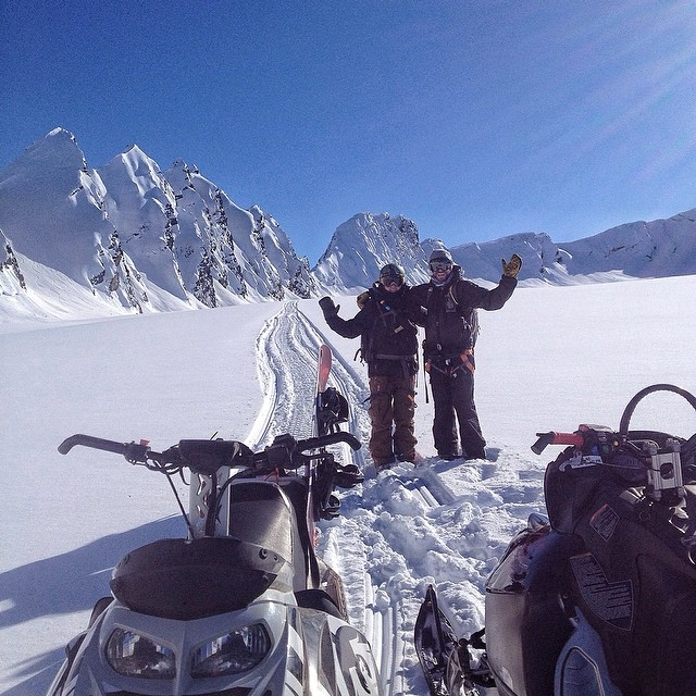 Everything is Bigger in Alaska. Team riders @charliehoch and @eanwood enjoying the scenery. #trewgear #trewlove #alaska #winterisnotover