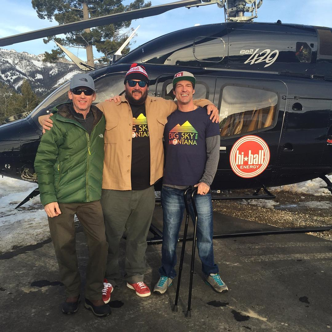 Immensely inspired by these two legendary gentlemen, #ToddBerardi & #ScotSchmidt... #Balling in @bigskyresort at the @hiballenergy 2016 #athletesummit.  #TheStokeIsNoJoke | #hiballenergy | #bell429 | #BigSkyMontana | #HeliLuv | #ChoosePositivityNow.com