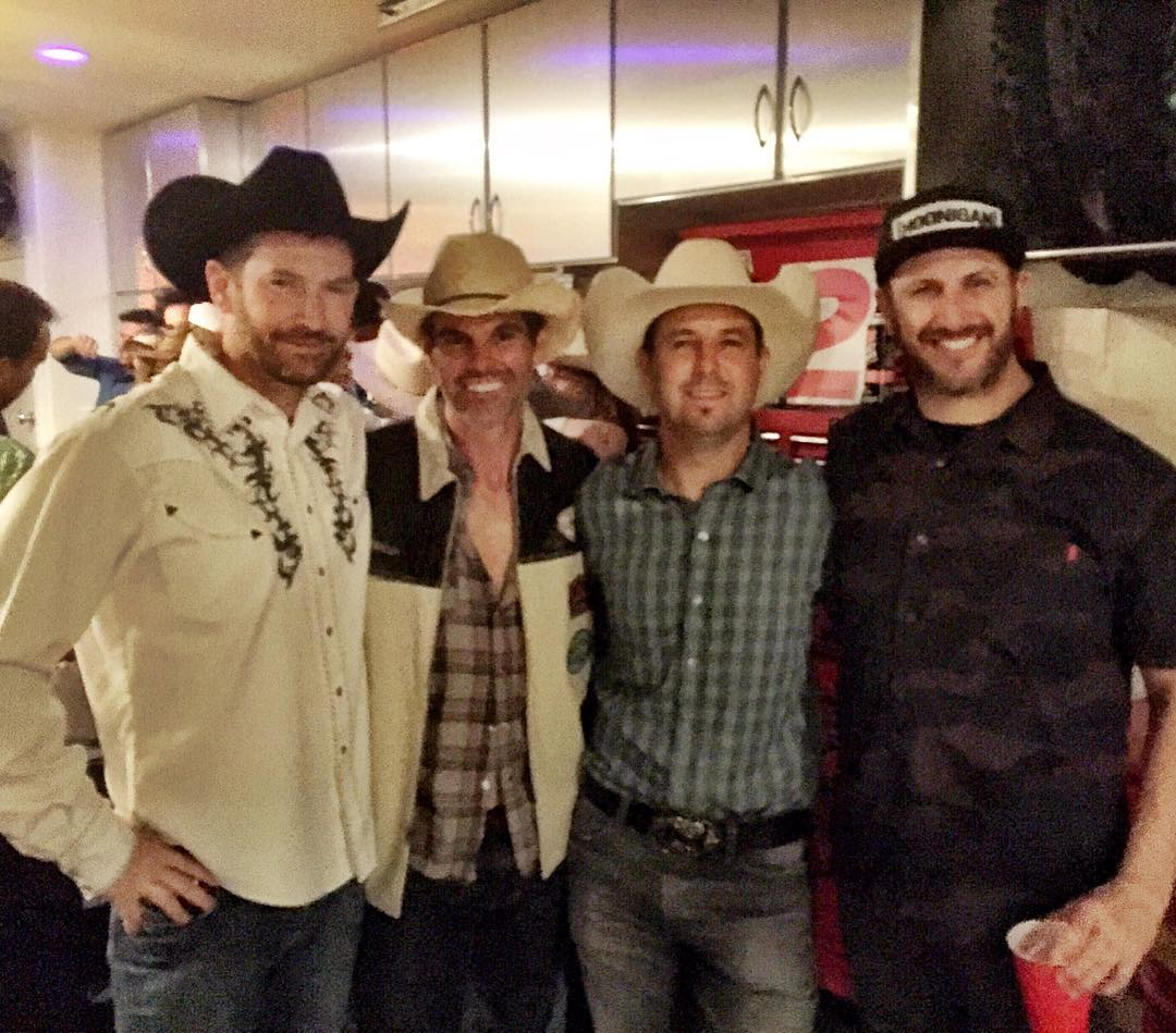 Partied with some of my favorite peoples last night in CA for Kim McGrath's birthday. Those peoples include these fine gentlemen, who are not actually cowboys: Davey Coombs, Ryan Hughes, and Jeremy McGrath. I am lucky to have such very talented and...