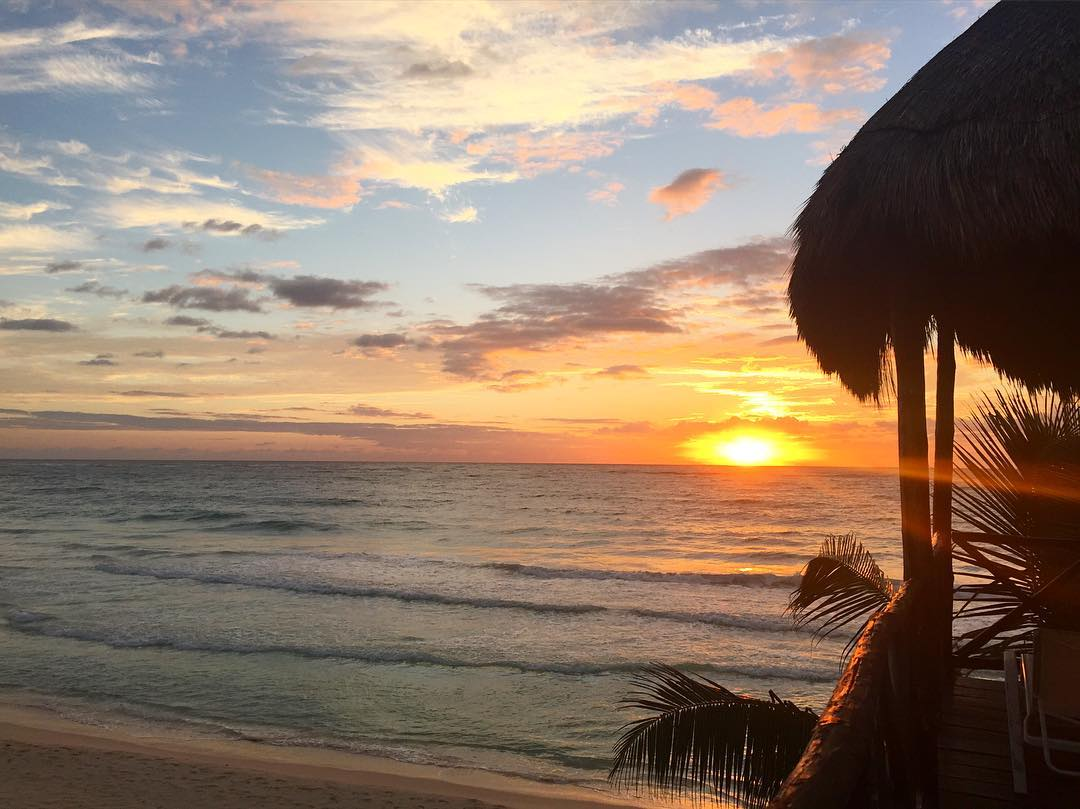 It's just another tequila sunrise #Mexico #Tulum #girlstrip #sunrise #wanderlust