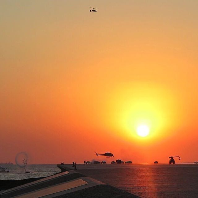 This scene from #GymkhanaEIGHT was sooooo wild to me. Helicopters, exotic police cars, the ocean, some dude on a water board, a Raptor, beautiful sunset, etc. Yeah, that was fun! See it all when the video launches TOMORROW. #somuchgoingon #sunsetsuperporn