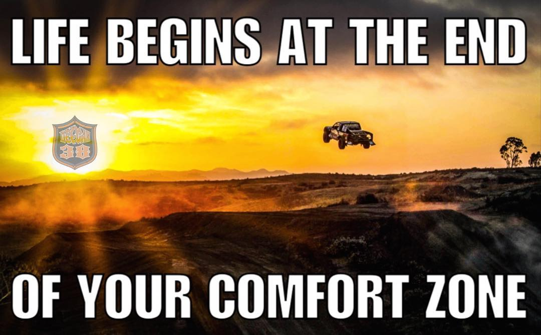 Push beyond what is comfortable . That's when you will see change. #Deegan38 #motivation #motivationmonday #motivationalquotes #takechances #jumps #trucks #offroad its #real