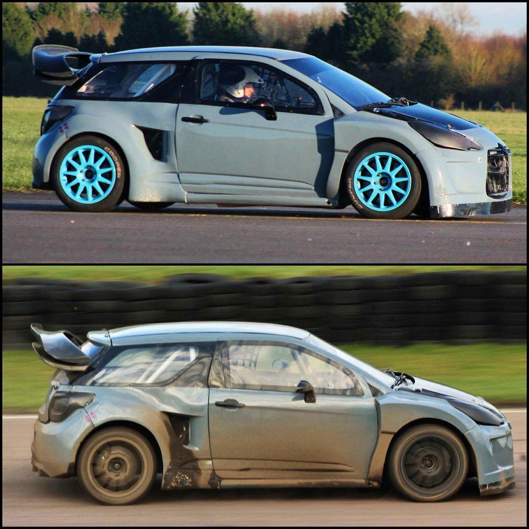 @danrooke40 putting my DS3 through its paces at an airfield shakedown and then at a full RX test at @lyddenhill ahead of @britishrallycross Rnd1 this weekend!! Lets hope he's going to show the old guys a thing or two!! #therookie