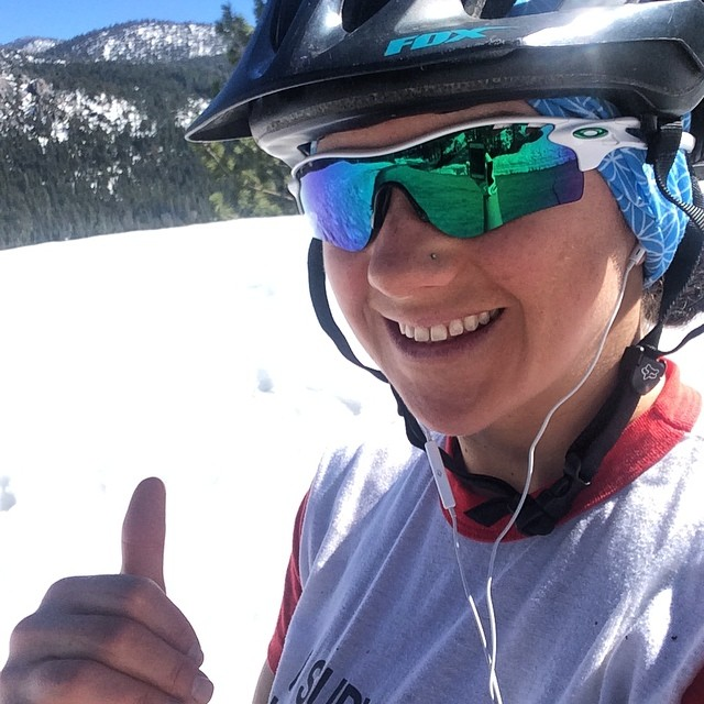 One day shredding awesome snow at @kirkwoodmtn the next training on the bike to keep those legs strong before work in 50+ degree weather. I love #California and we have snow on the way this week! Yeah!! @oakleywomen @dakine @kirkwoodmtn #epicteam...