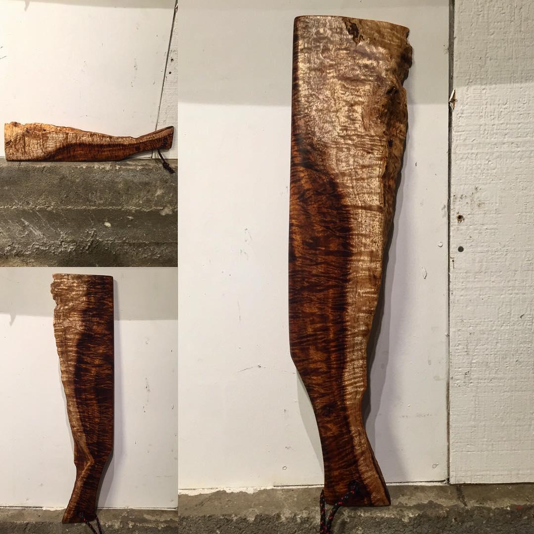 Curly Koa Wood Serving Tray || #charcuterie #charcuterieboard #koawood #howyalikemywood #ohheyhowyoudoin #mywoodissoshiny #ambrosia #lookslikeawhale #rd3creatif