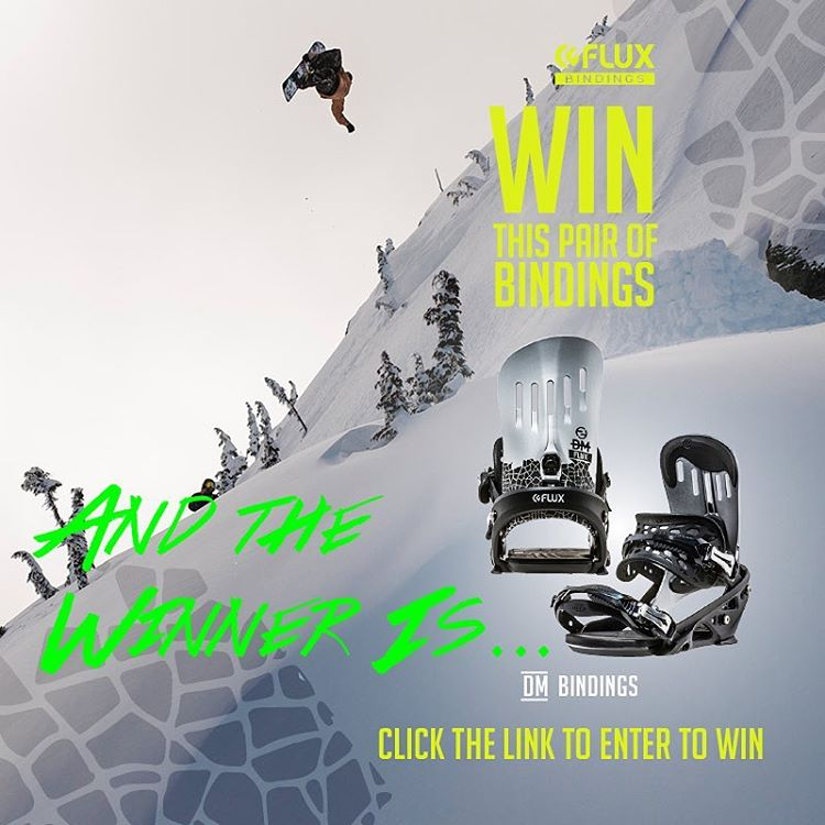 And the winner is... congratulations to JJ Stanley @va_jjstanley Flux team rider Chris Rasman @chrisrasman picked you to win the Flux DM Bindings. Hit us up at info@flux-bindings.com to collect your prize. If you didn't win, remember, you can always...